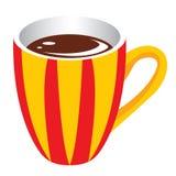 de gele kop van de Koffie Stock Afbeeldingen