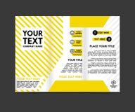 de gele malplaatjes van het brochureconcept Royalty-vrije Stock Afbeeldingen