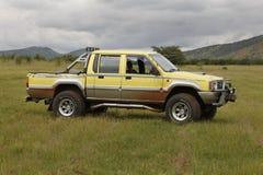 De gele Mitsubishi-Tweelingcabine van de Veulenrodeo royalty-vrije stock afbeelding