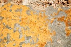 De gele muur van Grunge royalty-vrije stock afbeeldingen