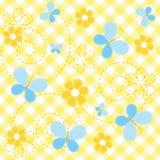 De gele naadloze baby van de inzameling. Stock Afbeelding