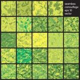 De gele Naadloze vector van het Camouflagepatroon stock illustratie