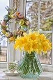 De Gele narcissen van Pasen Stock Afbeelding