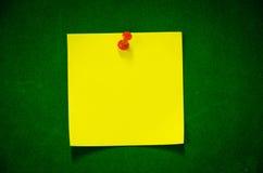 De gele Post-it Royalty-vrije Stock Foto