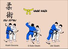 De gele riem van Jitsu van Jiu vector illustratie