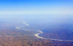 De gele rivier Royalty-vrije Stock Fotografie