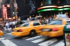De gele Stad van New York van Cabines Stock Foto