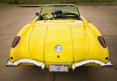 De gele van het Korvetchevrolet van 1958 klassieke auto Stock Fotografie