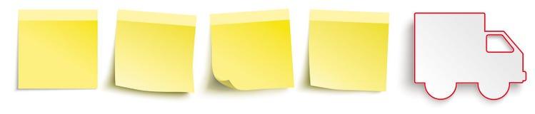 De gele Verschepende Auto van de Stokkenkopbal Royalty-vrije Stock Afbeelding