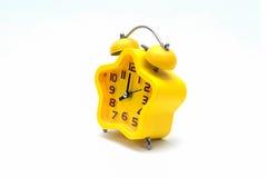 De gele wekker Stock Afbeelding