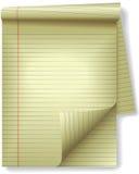 De gele Wettelijke Schijnwerper van de Krul van de Pagina van het Document van de Hoek van het Stootkussen vector illustratie
