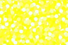 De gele witte ballons glanzen Royalty-vrije Stock Foto