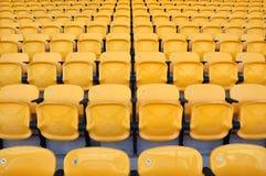 De gele zetel van de rij Royalty-vrije Stock Fotografie