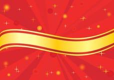 De gele zomer over rode stralen Royalty-vrije Stock Afbeeldingen