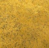 De gele Zuur Gewassen Textuur van de Leerdruk Stock Foto's