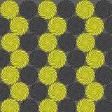 De gele zwarte achtergrond omcirkelt shaper de herhaling van het textuurpatroon vector illustratie