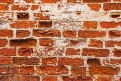 De gelegde rijen van bakstenen in de muur van een oud klooster Royalty-vrije Stock Fotografie
