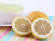 De gelei van de citroen stock afbeelding