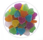 De Gelei van het hart in een Ronde Kom van het Glas Royalty-vrije Stock Afbeeldingen