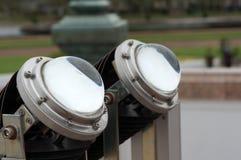 2 de geleide achtergrond van de lenstechnologieën van de lampprojector De Lamp van Eco De efficiencyconcept van de energie royalty-vrije stock afbeelding