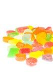 De geleisuikergoed van het fruit op witte achtergrond Stock Foto