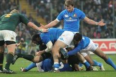 De gelijke Italië van het rugby versus Zuid-Afrika - scrum Royalty-vrije Stock Foto