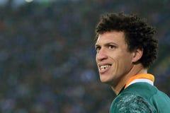 De gelijke Italië van het rugby versus Zuid-Afrika - Zane Kirchner Stock Foto's