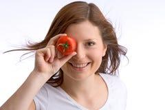 De gelijke tomaat van het oog Stock Afbeeldingen