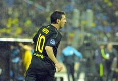 De gelijke van de voetbal FC VERMINDERT - FC Barcelona Stock Afbeeldingen