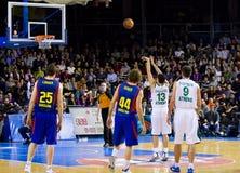 De gelijke van het basketbal Stock Foto's
