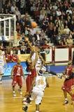 De gelijke van het basketbal, Frankrijk Pro A. Stock Foto