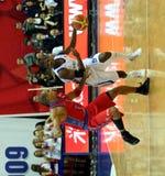 De gelijke van het basketbal tussen de teams van CSCA en van de Dynamo Royalty-vrije Stock Fotografie