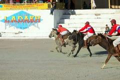 De gelijke van het polo op festifal Ladakh Stock Afbeeldingen