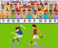 De gelijke van het voetbal Stock Fotografie