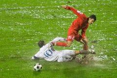 De gelijke van het voetbal Stock Afbeeldingen
