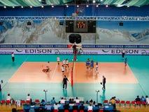 De gelijke van het volleyball: punt Stock Fotografie