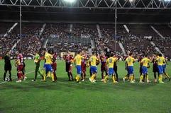De gelijkebegin van het voetbal Stock Foto