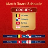 De Gelijkeraad van voetbaltoernooien met Russische Etnische Decoratie Vectorillustratie stock illustratie