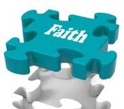 De geloofsfiguurzaag toont het Geloven van Godsdienstig Geloof of Vertrouwen vector illustratie