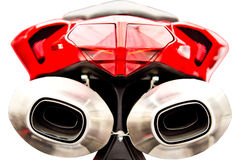 De Geluiddempers van de motorfiets royalty-vrije stock afbeeldingen