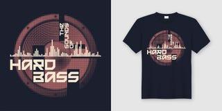De geluiden van hard bast-shirt en kledings in ontwerp met s vector illustratie