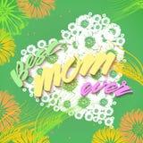 De gelukkige achtergrond van de Dag van Moeders Stock Fotografie