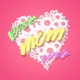 De gelukkige achtergrond van de Dag van Moeders Stock Foto's