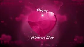 De gelukkige Achtergrond van de Dag van Valentijnskaarten stock video