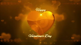 De gelukkige Achtergrond van de Dag van Valentijnskaarten stock videobeelden