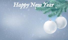 De gelukkige achtergrond van de Nieuwjaarsneeuw Royalty-vrije Stock Afbeelding