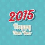 De gelukkige achtergrond van de Nieuwjaartypografie Royalty-vrije Stock Afbeelding