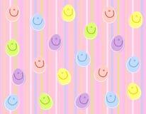 De gelukkige Achtergrond van de Paaseieren van het Gezicht Stock Afbeeldingen