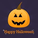 De gelukkige Achtergrond van de Pompoen van Halloween Royalty-vrije Illustratie