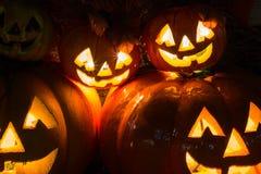 De gelukkige Achtergrond van de Pompoen van Halloween Stock Foto